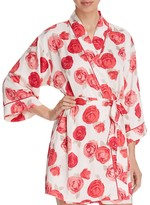 Kate Spade Luxe Floral Wrap Robe
