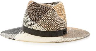 Maison Michel Charles Checked Straw Hat