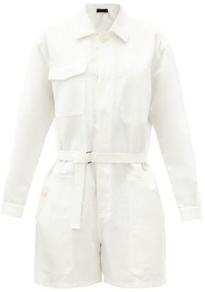 Haider Ackermann Belted-waist Cotton Jumpsuit - White