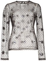 Moschino floral jeweled sheer mesh top - women - Cotton/Polyamide - 40