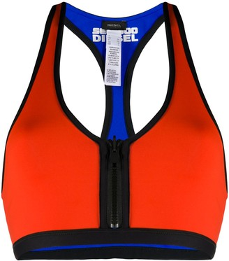 Diesel Front Zip Bikini Top