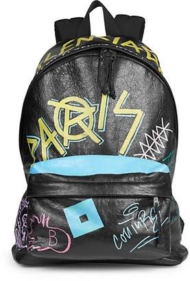 Balenciaga Graffiti Explorer Leather Backpack