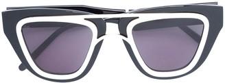 Smoke X Mirrors contrast-trim sunglasses