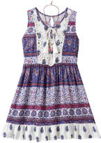 Knitworks Girls 7-16 Lace & Paisley Babydoll Dress