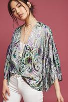 Anthropologie Vivian Ruffle Kimono