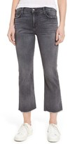 Current/Elliott Women's The Kick Raw Hem Crop Jeans