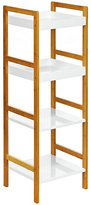 Premier Housewares 4 Tier White High Gloss Shelf Unit