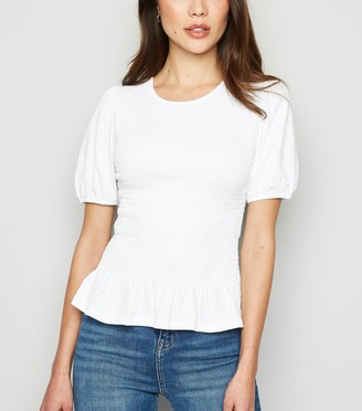 New Look Shirred Peplum Hem T-Shirt