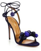 Aquazzura Disco Thing 105 Suede & Paillette Sandals