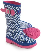 Joules Blue Zigzag Rain Boots - Waterproof (For Little and Big Girls)