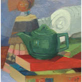 Teapot - Doll - and Books - Susan Trott - Artist Collective Art