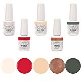 Gelish Mini 5 Bottle Soak Off Solid and Shimmer Gel Nail Polish Collection, 9 mL