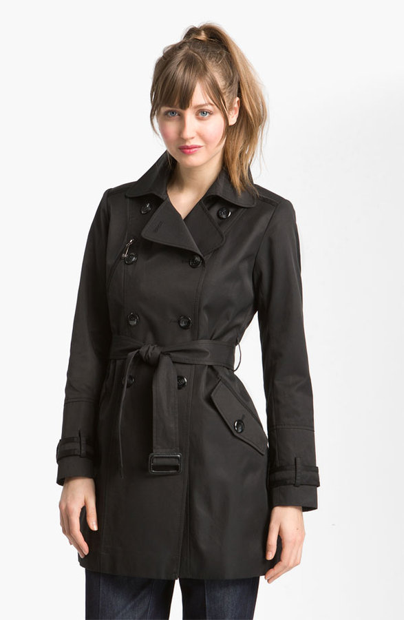 Vince Camuto Grosgrain Trim Trench