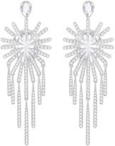 Swarovski Hippy Chandelier Pierced Earrings, White, Ruthenium plating