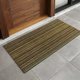 "Crate & Barrel Chilewich ® Multi Thin Stripe 24""x48"" Doormat"