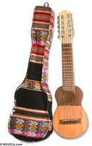 Novica Wood charango guitar, Andean Song