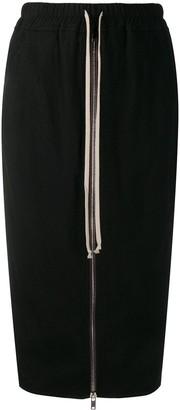 Rick Owens Front Zipped Skirt