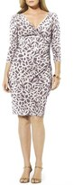 Lauren Ralph Lauren Plus Size Women's Print Faux Wrap Jersey Dress