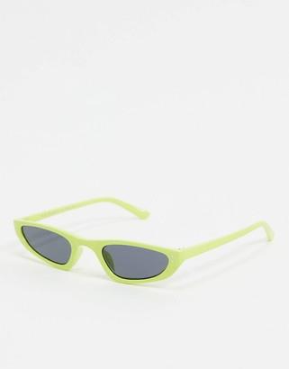A. J. Morgan AJ Morgan slim square sunglasses in green