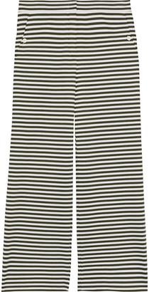 Max Mara Ebbro Cropped Striped Stretch-jersey Wide-leg Pants