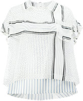 Sacai micro-dot cross print blouse