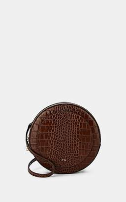 Co Women's Stamped Leather Circle Crossbody Bag - Brown