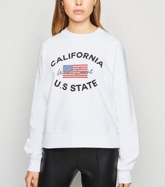 New Look USA Flag California Slogan Sweatshirt