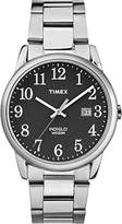 Timex Mens Easy Reader Black Dial with a Stainless Steel Bracelet Watch TW2R23400