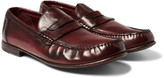 Dolce & Gabbana - Burnished-leather Penny Loafers