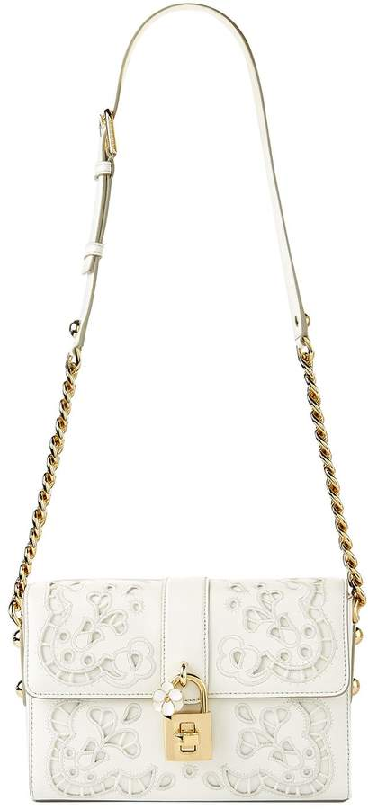 Dolce & Gabbana Cut Out Detail Padlock Shoulder Bag