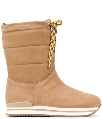 Hogan Shearling Lining Boots