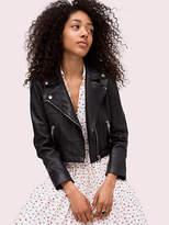 Kate Spade Cropped leather jacket