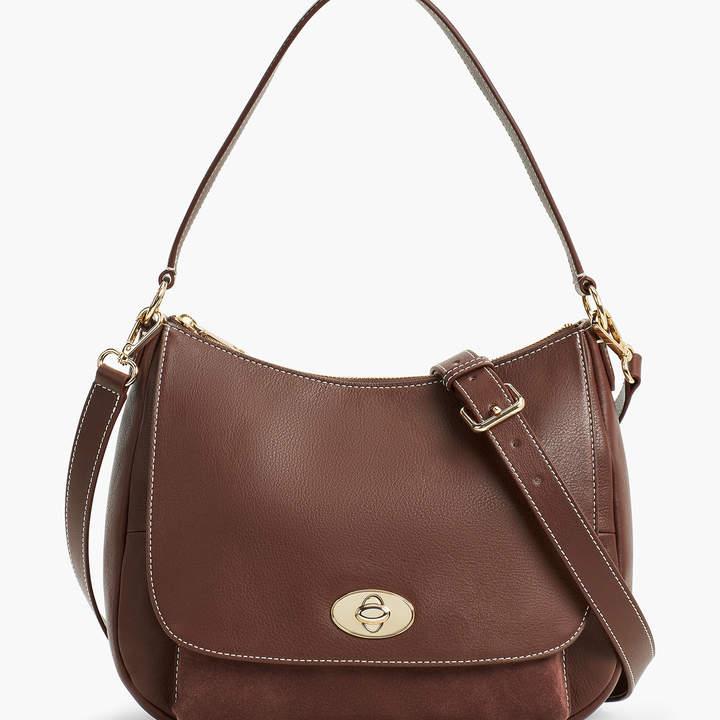 Talbots Soft Pebbled Leather Hobo Bag
