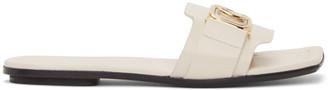 Lanvin White Swan Slides