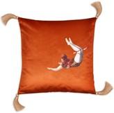 Melody Rose London Trapeze Girl Velvet Cushion Burnt Orange
