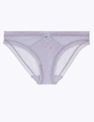 M&S CollectionMarks and Spencer Spot Mesh Sparkle Bikini Knickers
