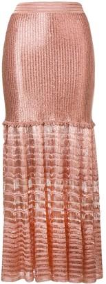 Alexander McQueen Knitted Maxi Skirt