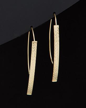 Italian Gold 14K Diamond Cut Curved Bar Open Hoops