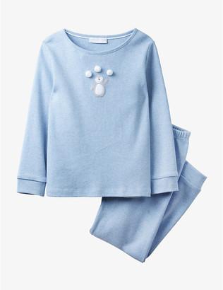 The Little White Company Penguin pom-pom cotton pyjamas 1-12 years