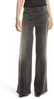 Nili Lotan Women's Ena Side Button Detail Wide Leg Jeans