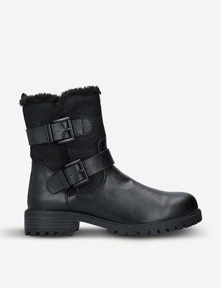 Kg Kurt Geiger Snug 2 biker faux-leather boots