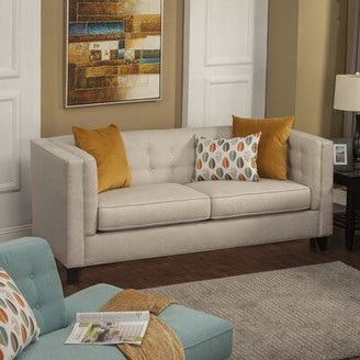 Brayden Studio Pesce Contemporary Flared Arm Sofa Upholstery: Citrus