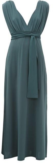Max Mara Beachwear - Nerone Dress - Womens - Dark Blue