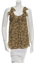 Diane von Furstenberg Sleeveless Printed Silk Top