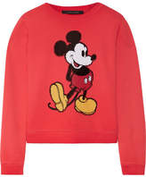 Marc Jacobs Sequin-embellished Cotton-jersey Sweatshirt - Red