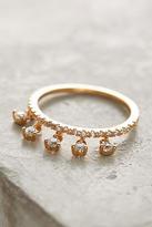 Anthropologie Crystal Dangle Ring