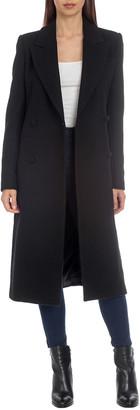 AVEC LES FILLES Tailored Wool-Blend Coat