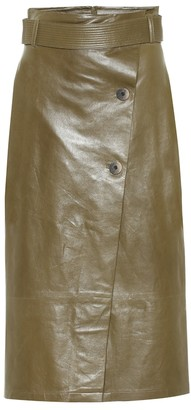 ZEYNEP ARCAY Leather wrap skirt