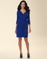 Soma Intimates Ivy and Blu 3/4 Sleeve Faux Wrap Dress