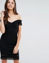 Love Laser Cut Cold Shoulder Dress